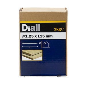 Image of Diall Lost head nail (L)15mm (Dia)1.25mm 1kg Pack