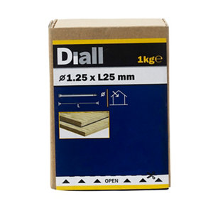 Image of Diall Lost head nail (L)25mm (Dia)1.25mm 1kg Pack