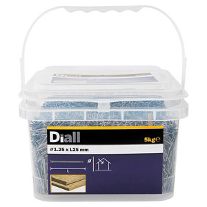 Image of Diall Lost head nail (L)25mm (Dia)1.25mm 5kg Pack