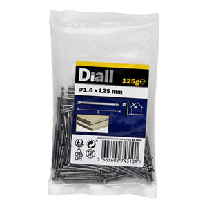 Image of Diall Lost head nail (L)25mm (Dia)1.6mm 125g Pack