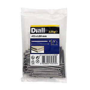 Image of Diall Lost head nail (L)50mm (Dia)2mm 125g Pack