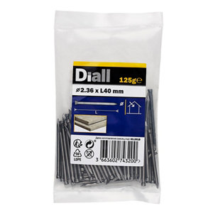 Image of Diall Lost head nail (L)40mm (Dia)2.36mm 125g Pack