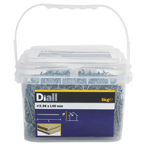 Image of Diall Lost head nail (L)40mm (Dia)2.36mm 5kg Pack