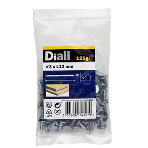Image of Diall Clout nail (L)12mm (Dia)3mm 125g Pack