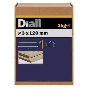 Image of Diall Clout nail (L)20mm (Dia)3mm 1kg Pack