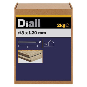 Image of Diall Clout nail (L)20mm (Dia)3mm 2kg Pack