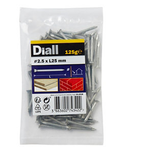 Image of Diall Masonry nail (L)25mm (Dia)2.5mm 125g Pack
