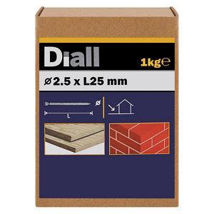 Diall Masonry nail (L)25mm (Dia)2.5mm  Pack