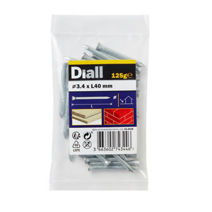 Image of Diall Masonry nail (L)40mm (Dia)3.4mm 125g Pack