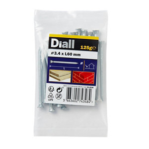 Image of Diall Masonry nail (L)60mm (Dia)3.4mm 125g Pack