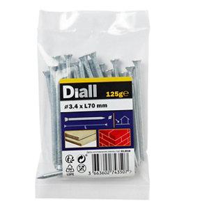 Diall Masonry nail (L)70mm (Dia)3.4mm  Pack