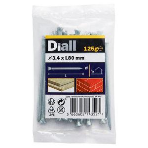 Diall Masonry nail (L)80mm (Dia)3.4mm 125g  Pack