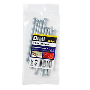 Image of Diall Masonry nail (L)100mm (Dia)4.6mm 125g Pack