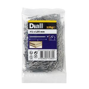 Image of Diall Veneer pin (L)25mm (Dia)1mm 125g Pack