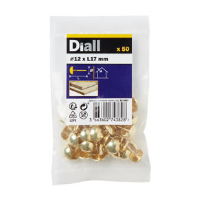 Diall Upholstery nail (L)12mm  Pack of 50