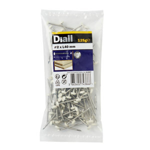 Image of Diall UPVC nail (L)40mm (Dia)2mm 125g Pack
