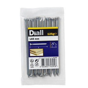 Image of Diall Oval nail (L)65mm 125g Pack