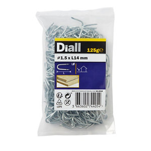 Image of Diall Wire staples (H)14mm (Dia)1.5mm 125g Pack