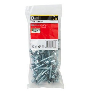 Image of Diall Zinc-plated Carbon steel Roofing screw (L)45mm Pack of 50