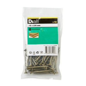 Image of Diall Carbon steel Decking screw (Dia)5mm (L)50mm Pack of 50