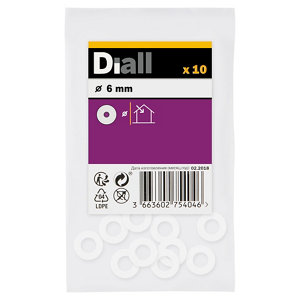 Image of Diall M6 Nylon Washer Pack of 10