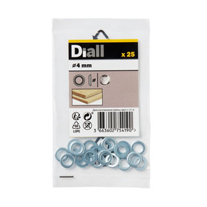 Image of Diall M4 Stainless steel Screw cup Washer Pack of 25