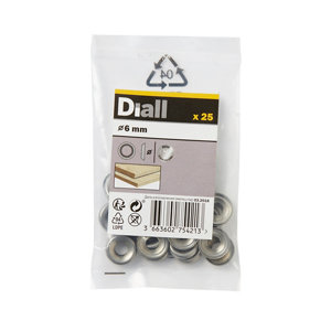 Image of Diall M6 Stainless steel Screw cup Washer Pack of 25