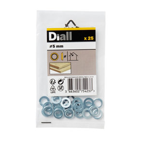 Image of Diall M5 Brass Screw cup Washer Pack of 25