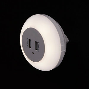 Image of Colours Lisbo Gloss White LED USB night light
