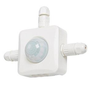 Colours Drake White Mains-powered PIR Motion sensor