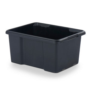 Image of Form Fitty Black 26L Plastic Storage box