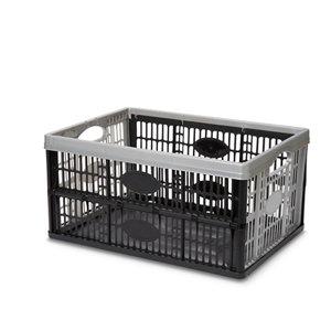 Form Stuva Black & Grey 33L Polypropylene (PP) Foldable Storage crate