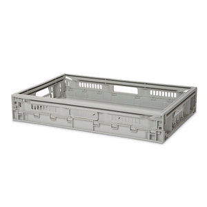 Form Foldie Heavy duty Light grey 21L Polypropylene (PP) Foldable Storage crate