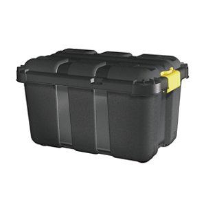 Image of Form Skyda Black 49L Plastic Storage trunk