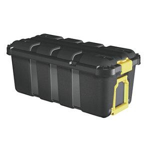 Image of Form Skyda Black 68L Plastic Storage trunk