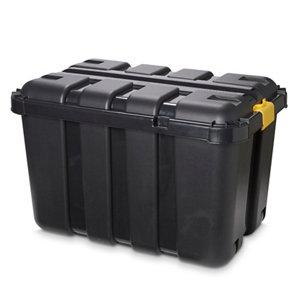 Image of Form Skyda Heavy duty Black 149L Plastic Nestable Storage trunk