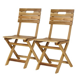 Denia Wooden Foldable Chair  Pack of 2
