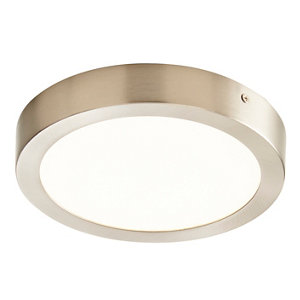 Image of Aius Brushed Chrome effect Ceiling light