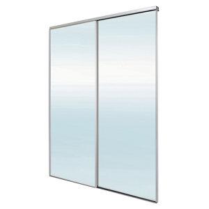 Image of Blizz Mirrored 2 door Sliding Wardrobe Door kit (H)2260mm (W)1800mm