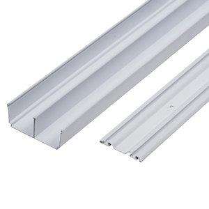 Valla White Sliding wardrobe door track (L)1500mm