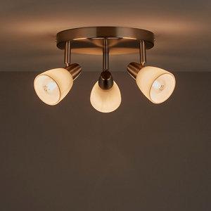 Image of Aphaea Brushed Chrome effect Mains-powered 3 lamp Spotlight