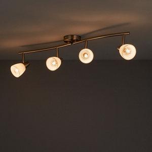 Image of Aphaea Brushed Chrome effect Mains-powered 4 lamp Spotlight
