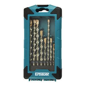 Image of Erbauer 10 piece Masonry Drill bit Set