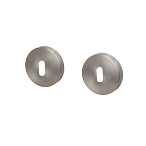 Image of Colours Rosace Polished Chrome effect Stainless steel Door escutcheon Pack of 2
