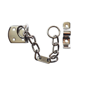 Image of Smith & Locke TT4002 Chrome effect Galvanised Steel Door chain (L)208mm