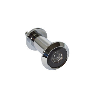 Image of Smith & Locke Chrome-plated Galvanised Zinc alloy 180° Door viewer (Dia)25.9mm