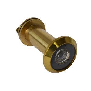Image of Smith & Locke Galvanised Brass 180° Door viewer (Dia)25.9mm