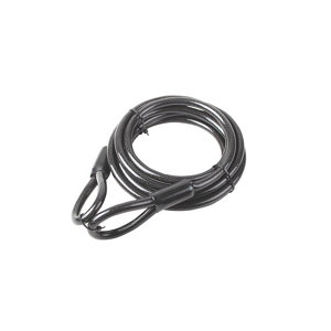 Image of Smith & Locke Black Braided steel Security cable (L)1.5m (Dia)8mm