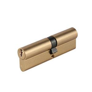 Image of Smith & Locke Brass Single Euro Cylinder lock (L)95mm (W)33mm