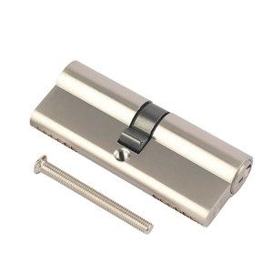 Image of Smith & Locke Nickel effect Brass Single Euro Cylinder lock (L)95mm (W)33mm